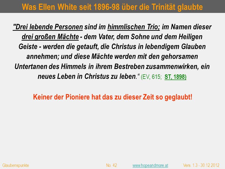 Der Hl. Geist nicht nur mehr eine Kraft, sondern eine Person für Ellen White