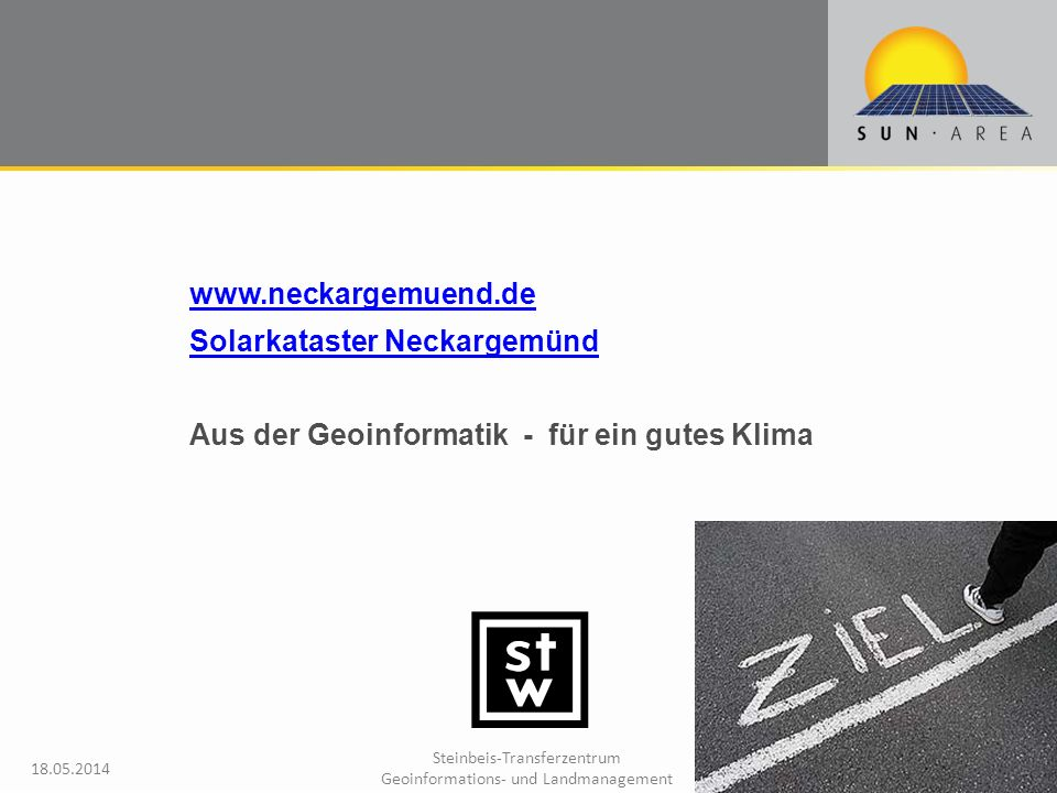 www.neckargemuend.de Solarkataster Neckargemünd Aus der Geoinformatik - für ein gutes Klima