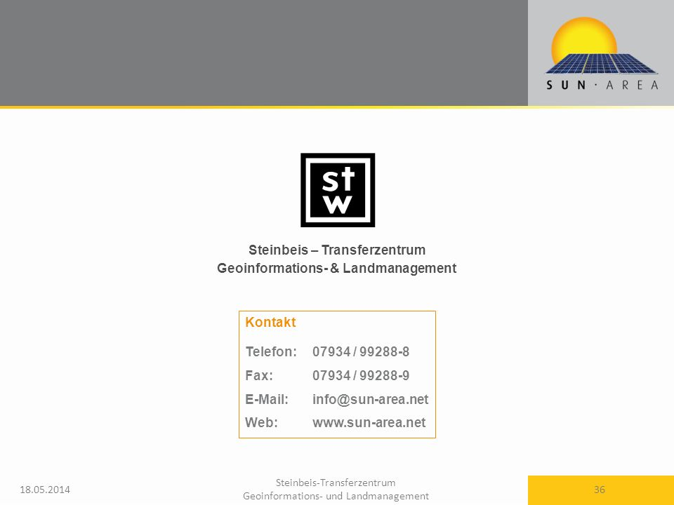 Steinbeis – Transferzentrum Geoinformations- & Landmanagement