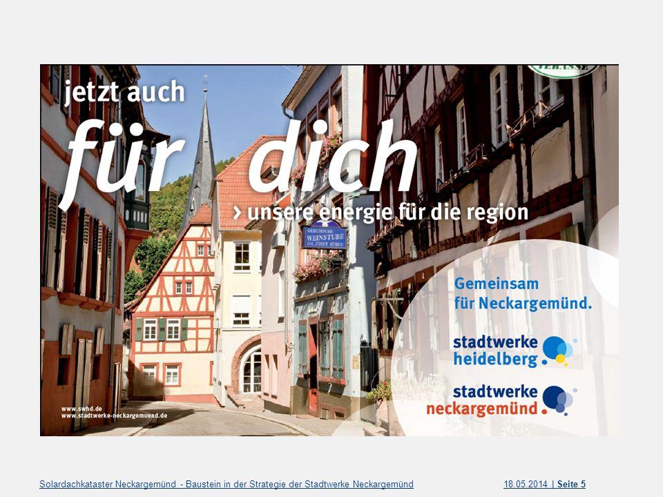 Solardachkataster Neckargemünd - Baustein in der Strategie der Stadtwerke Neckargemünd