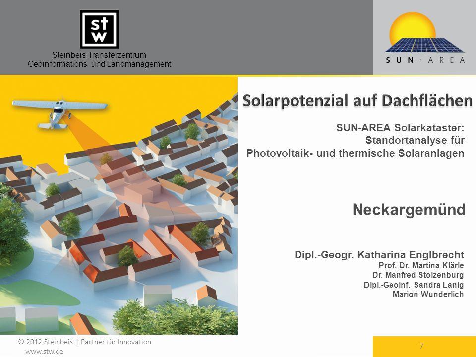 Solarpotenzial auf Dachflächen