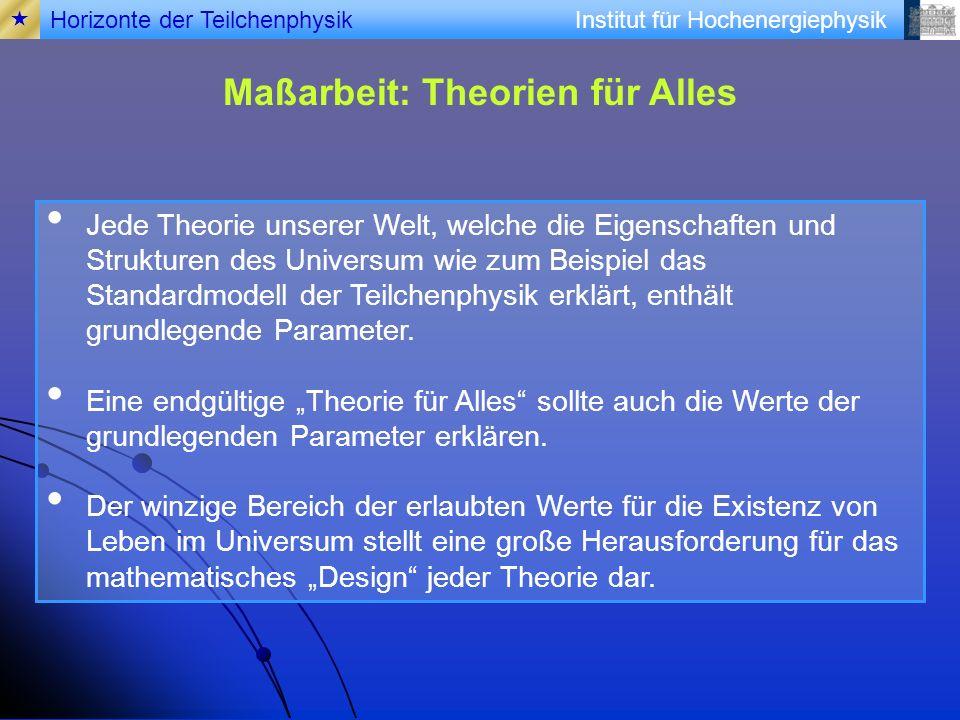 Maßarbeit: Theorien für Alles