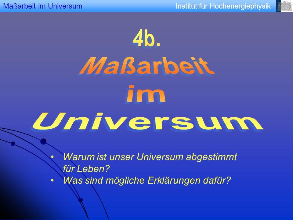 4b. Maßarbeit im Universum