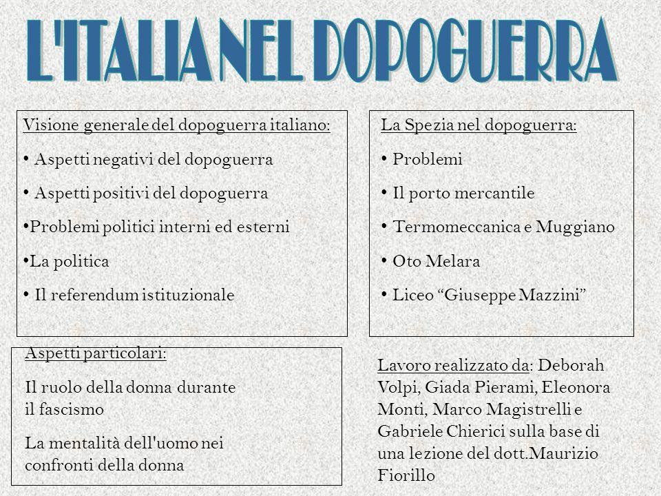 L ITALIA NEL DOPOGUERRA