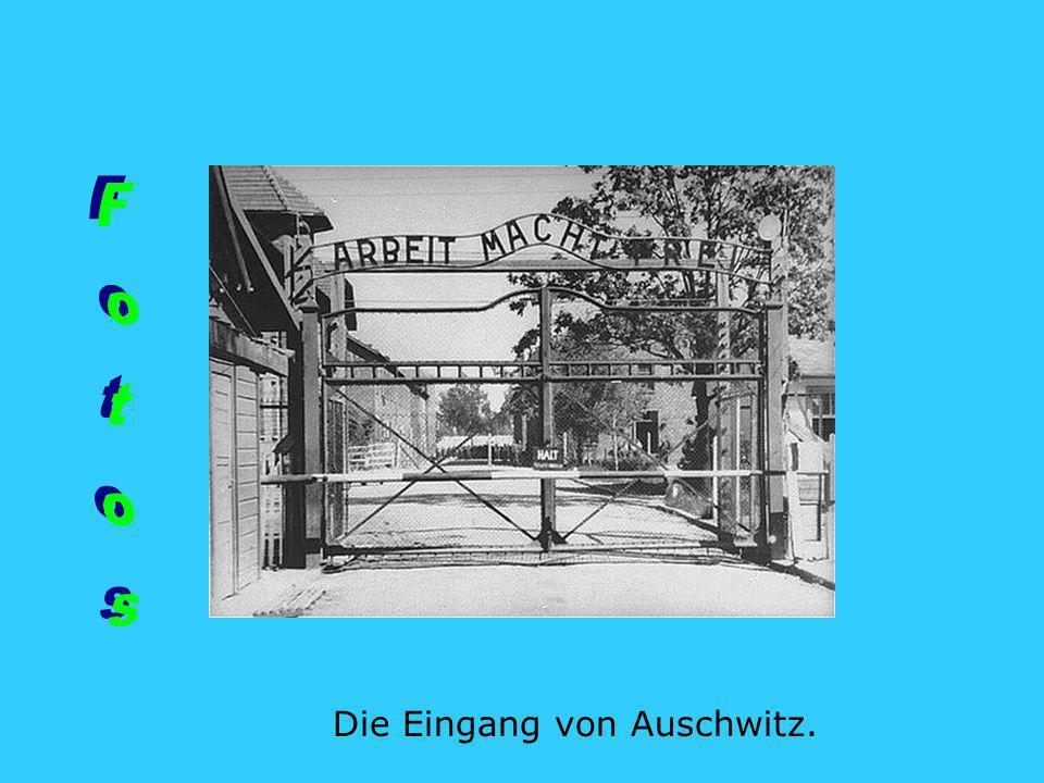 Fotos Die Eingang von Auschwitz.