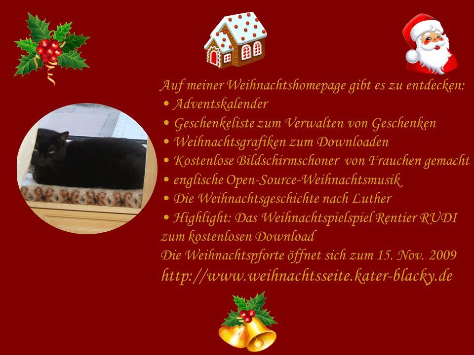 Auf meiner Weihnachtshomepage gibt es zu entdecken: