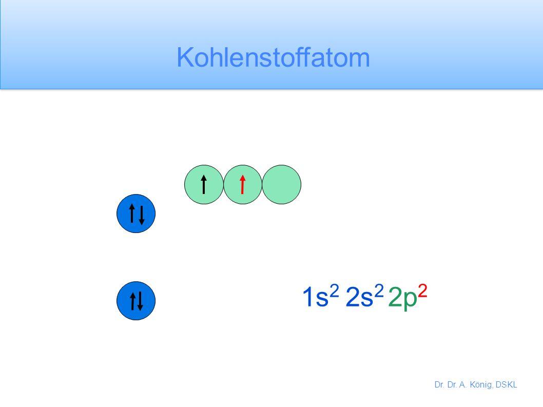 Kohlenstoffatom 1s2 2s2 2p2