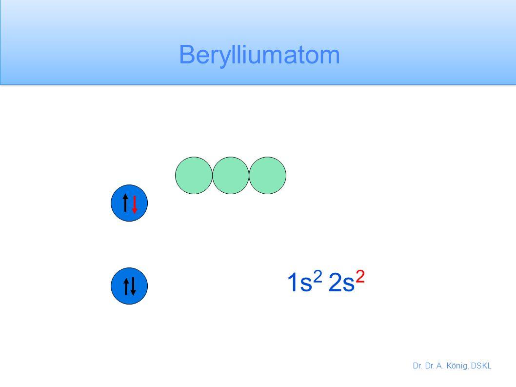 Berylliumatom 1s2 2s2