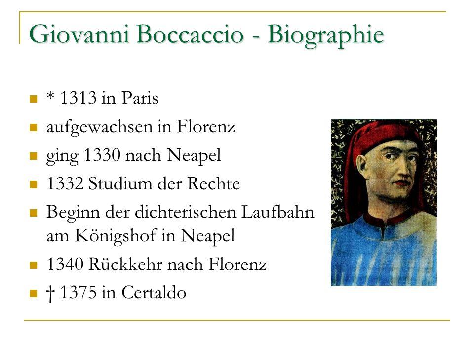 Giovanni Boccaccio - Biographie