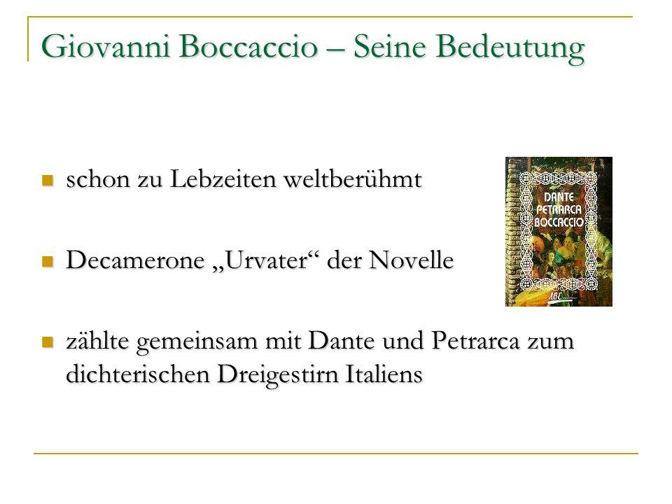 Giovanni Boccaccio – Seine Bedeutung