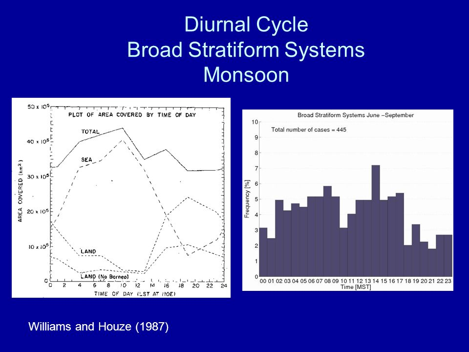 Diurnal Cycle Broad Stratiform Systems Monsoon