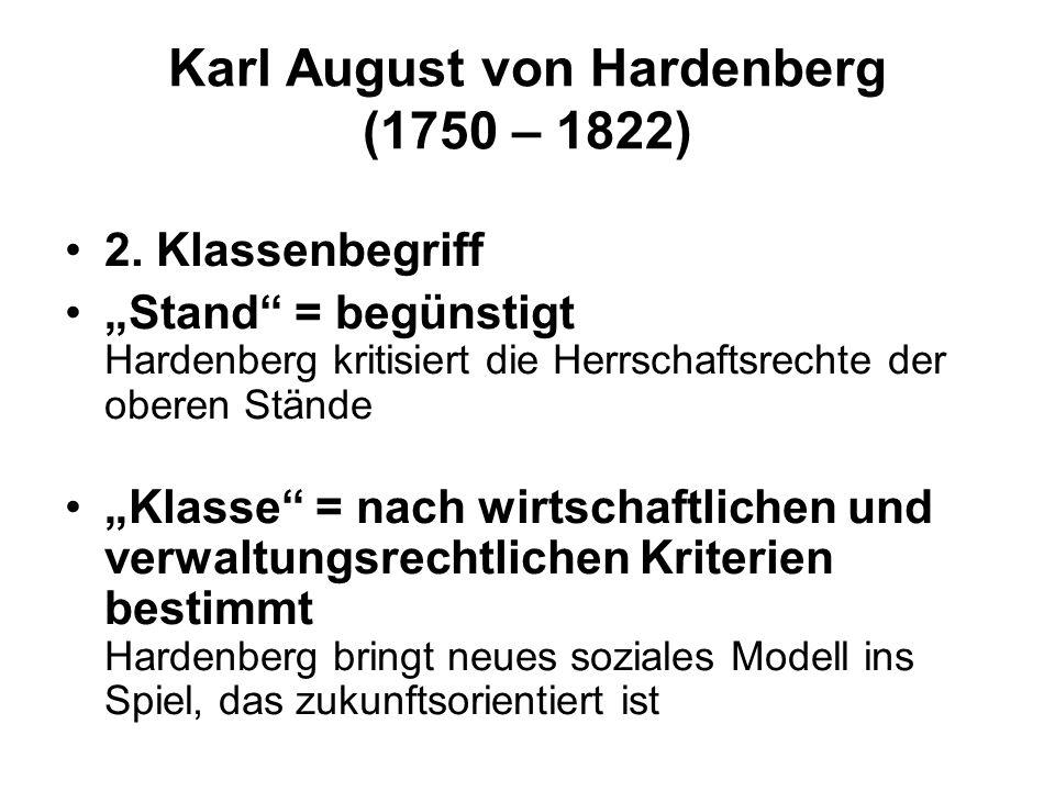 Karl August von Hardenberg (1750 – 1822)