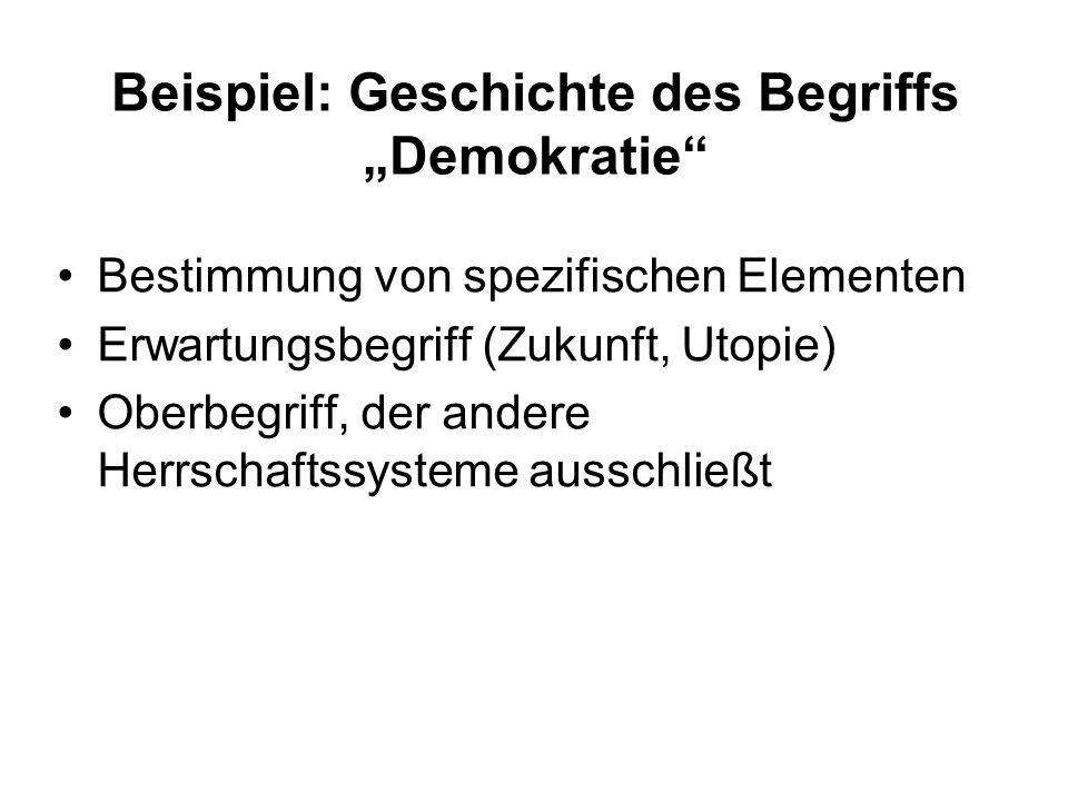 """Beispiel: Geschichte des Begriffs """"Demokratie"""