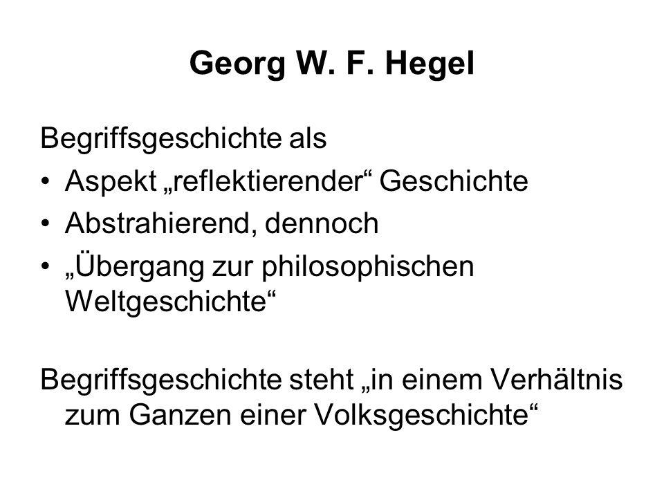 Georg W. F. Hegel Begriffsgeschichte als