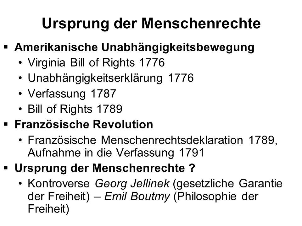 Ursprung der Menschenrechte