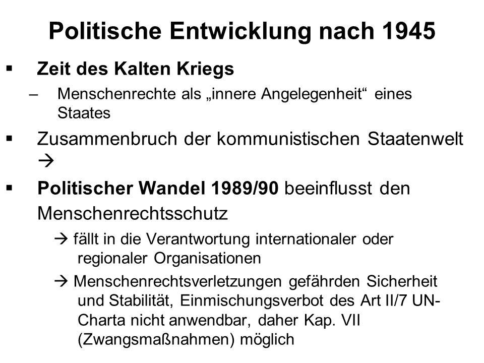 Politische Entwicklung nach 1945