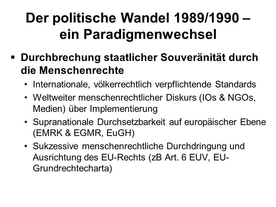 Der politische Wandel 1989/1990 – ein Paradigmenwechsel