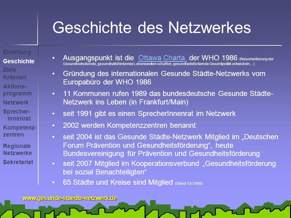 Geschichte des Netzwerkes
