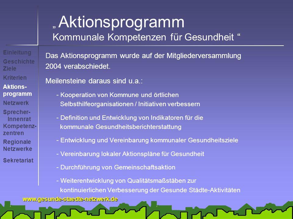 """"""" Aktionsprogramm Kommunale Kompetenzen für Gesundheit"""