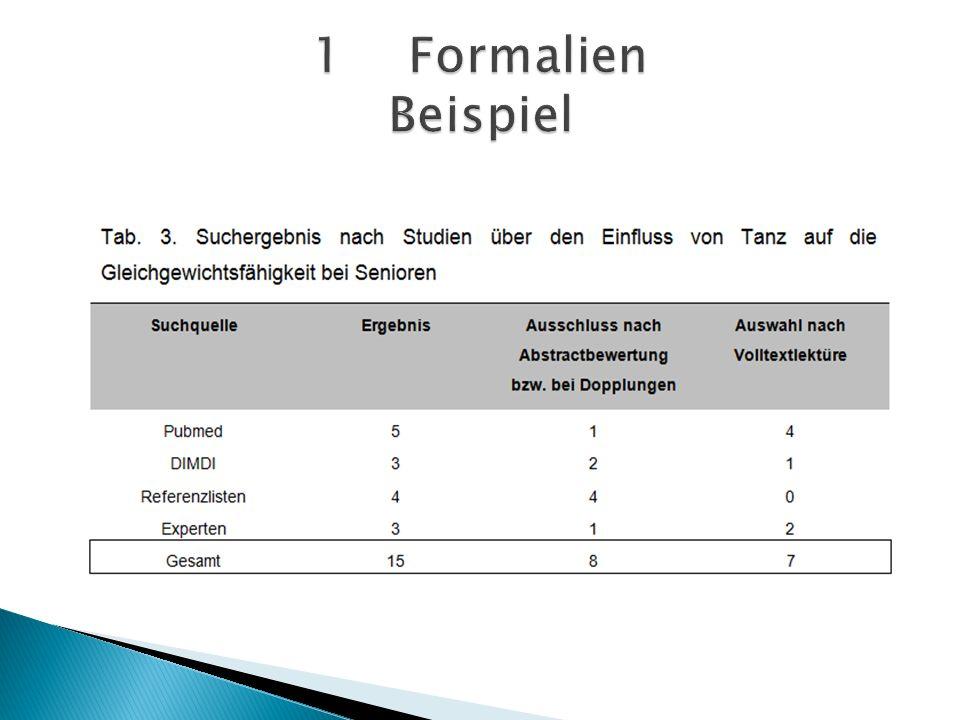 1 Formalien Beispiel
