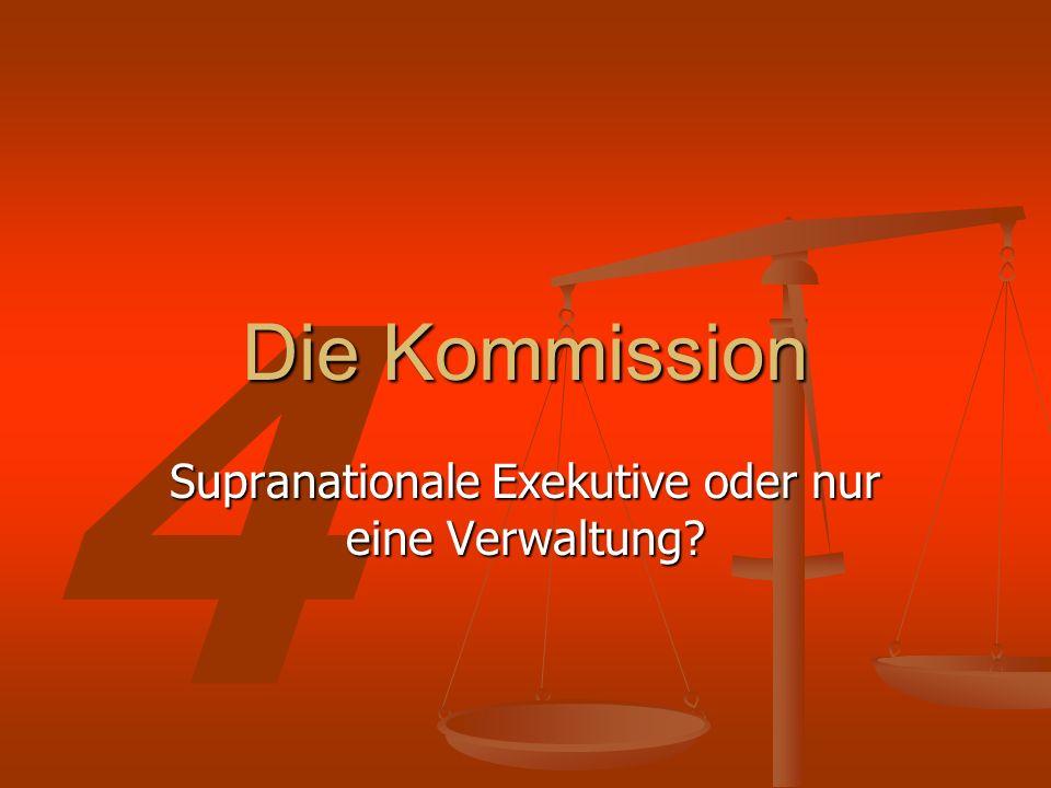 Supranationale Exekutive oder nur eine Verwaltung