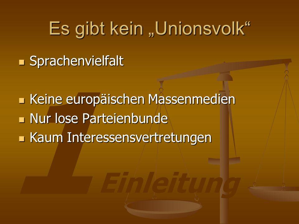 """Es gibt kein """"Unionsvolk"""