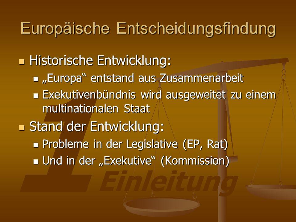 Europäische Entscheidungsfindung