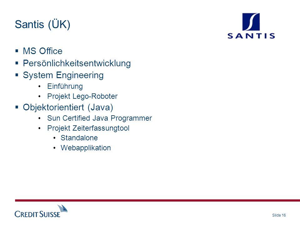 Santis (ÜK) MS Office Persönlichkeitsentwicklung System Engineering