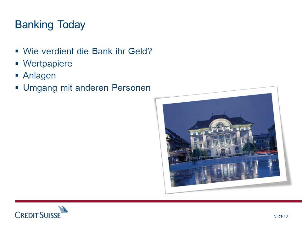 Banking Today Wie verdient die Bank ihr Geld Wertpapiere Anlagen