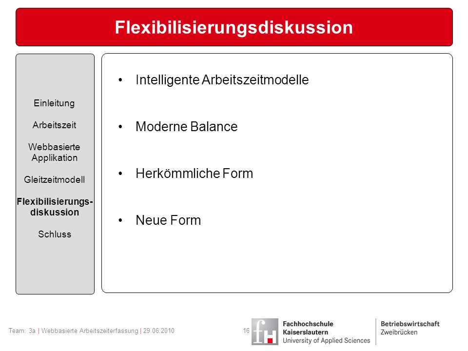 Flexibilisierungsdiskussion
