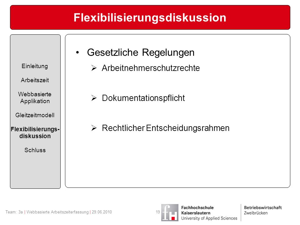 Flexibilisierungsdiskussion