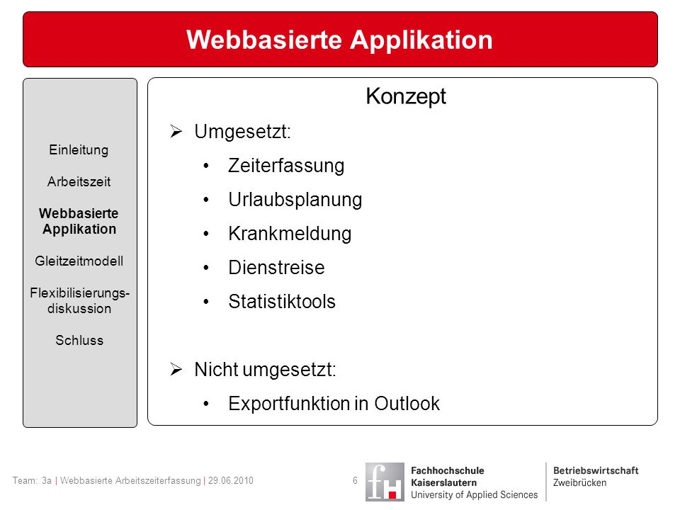 Webbasierte Applikation