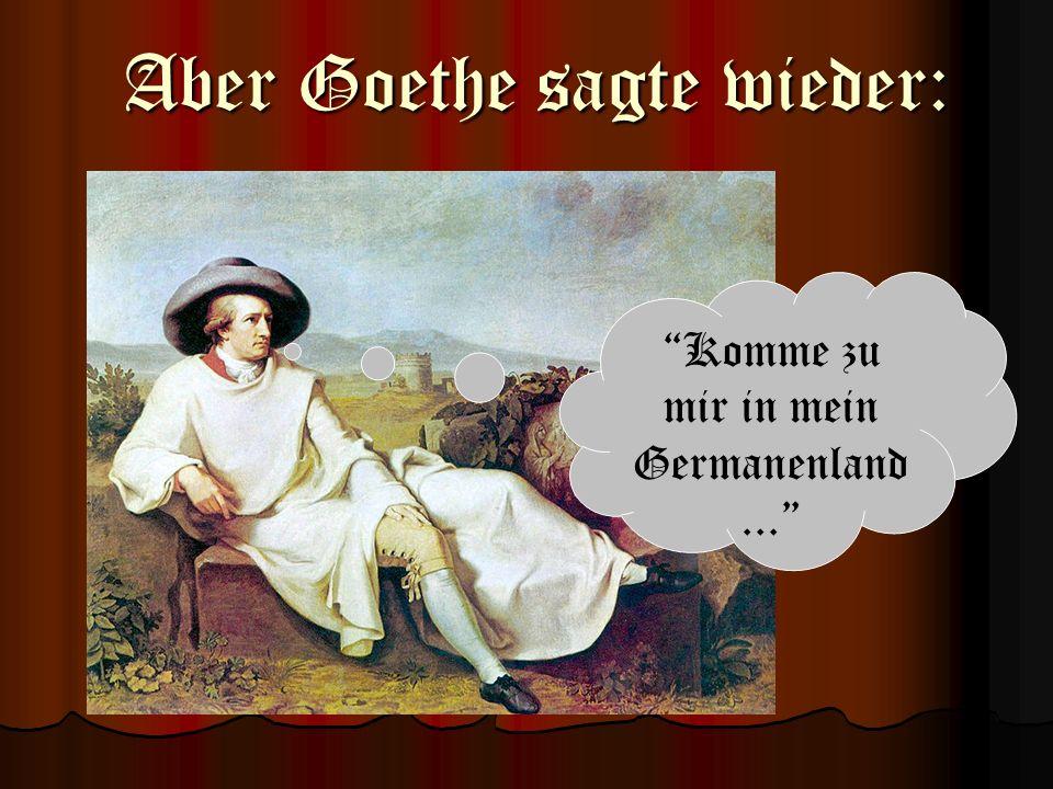 Komme zu mir in mein Germanenland ...
