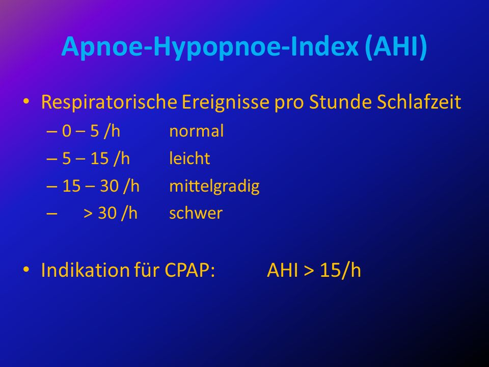 Apnoe-Hypopnoe-Index (AHI)