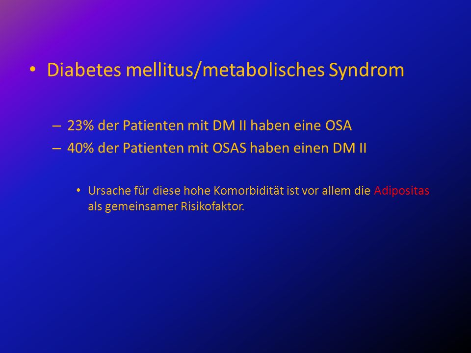 Diabetes mellitus/metabolisches Syndrom