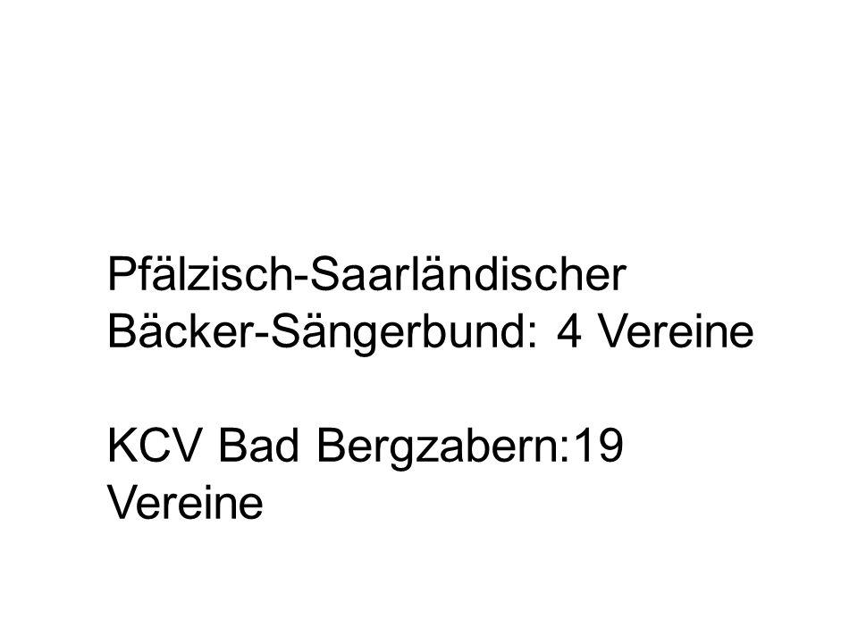 Pfälzisch-Saarländischer Bäcker-Sängerbund: 4 Vereine