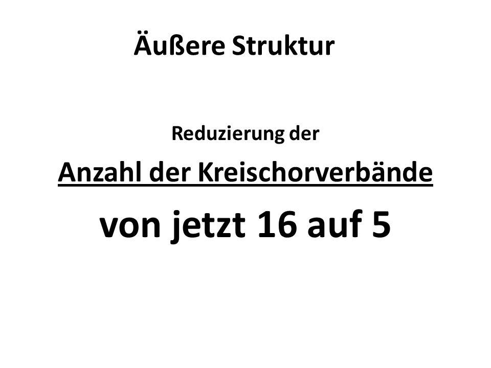 Anzahl der Kreischorverbände