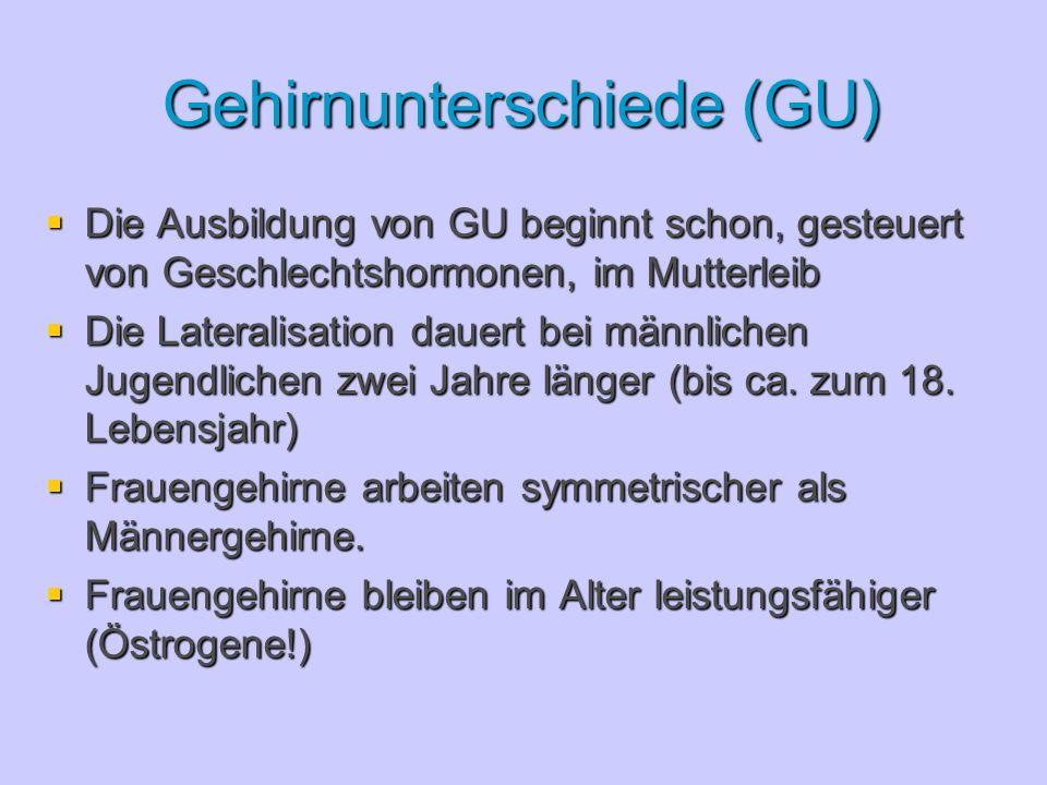 Gehirnunterschiede (GU)