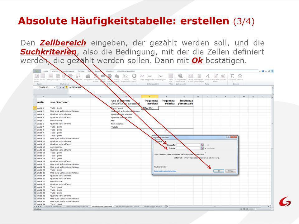 Absolute Häufigkeitstabelle: erstellen (3/4)