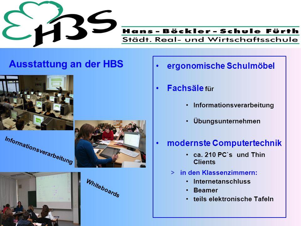 Ausstattung an der HBS ergonomische Schulmöbel Fachsäle für