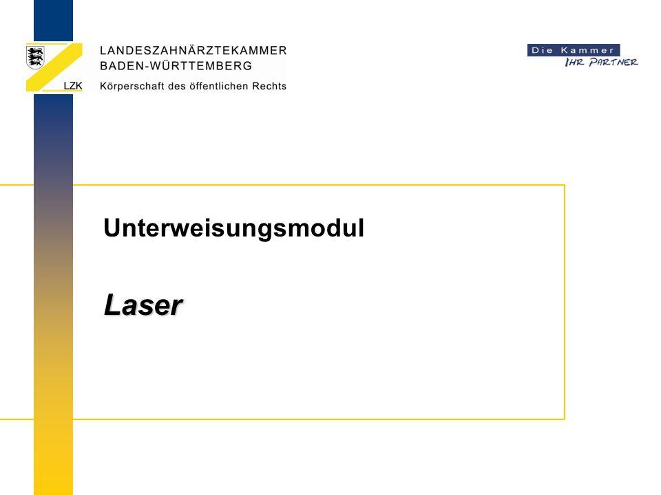 Unterweisungsmodul Laser