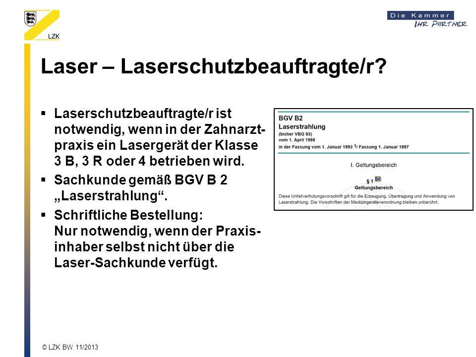 Laser – Laserschutzbeauftragte/r