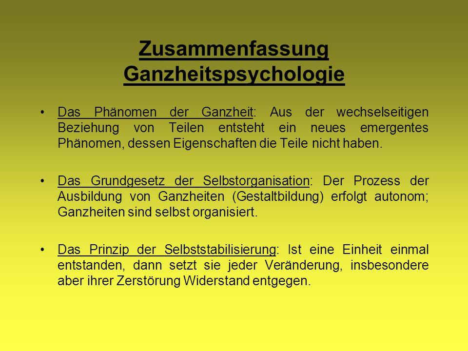 Zusammenfassung Ganzheitspsychologie