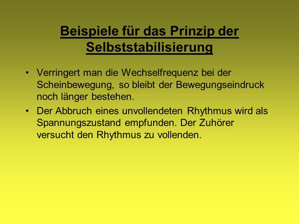 Beispiele für das Prinzip der Selbststabilisierung