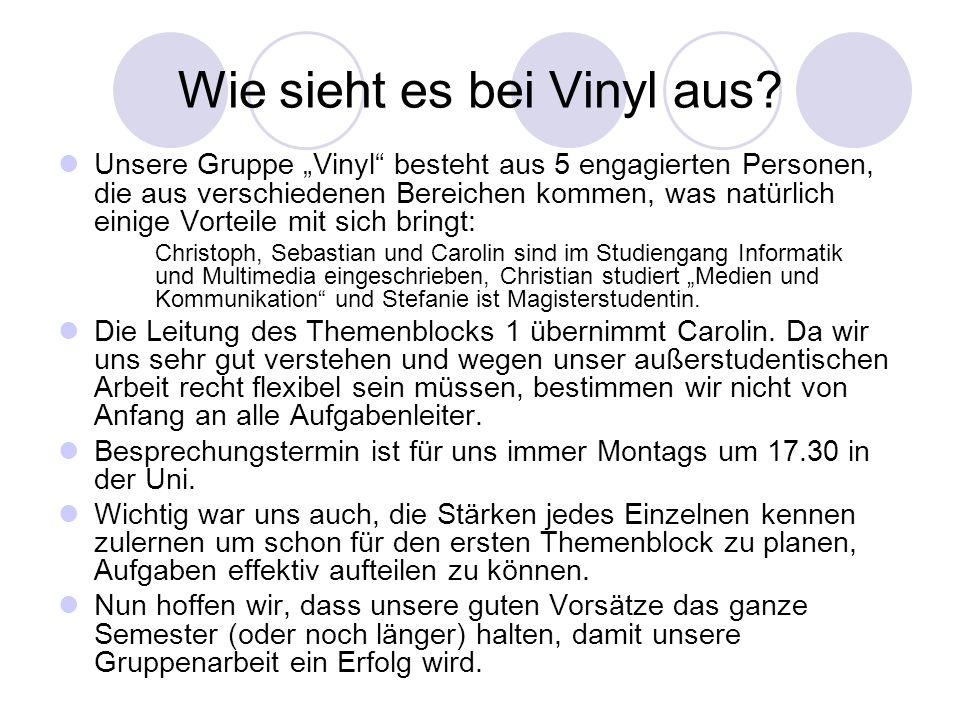 Wie sieht es bei Vinyl aus