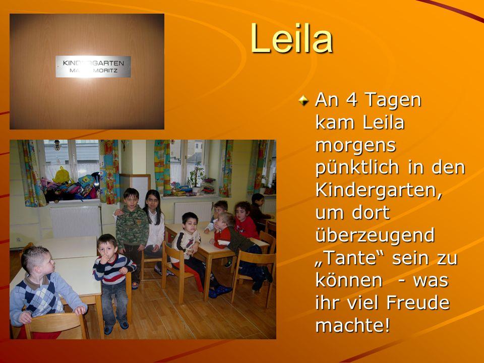 """Leila An 4 Tagen kam Leila morgens pünktlich in den Kindergarten, um dort überzeugend """"Tante sein zu können - was ihr viel Freude machte!"""