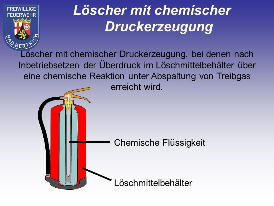 Löscher mit chemischer Druckerzeugung