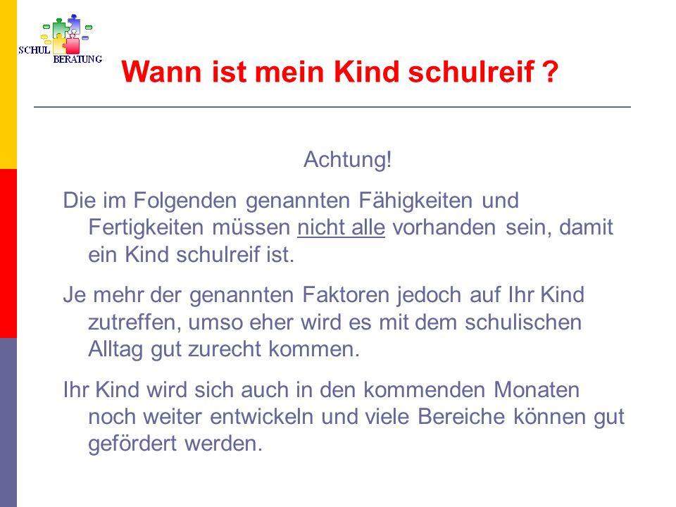 Einschulungsbestimmungen in Bayern