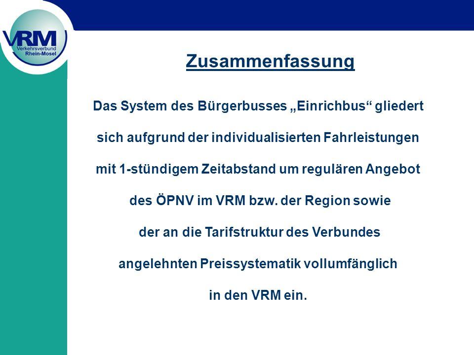 """Zusammenfassung Das System des Bürgerbusses """"Einrichbus gliedert"""