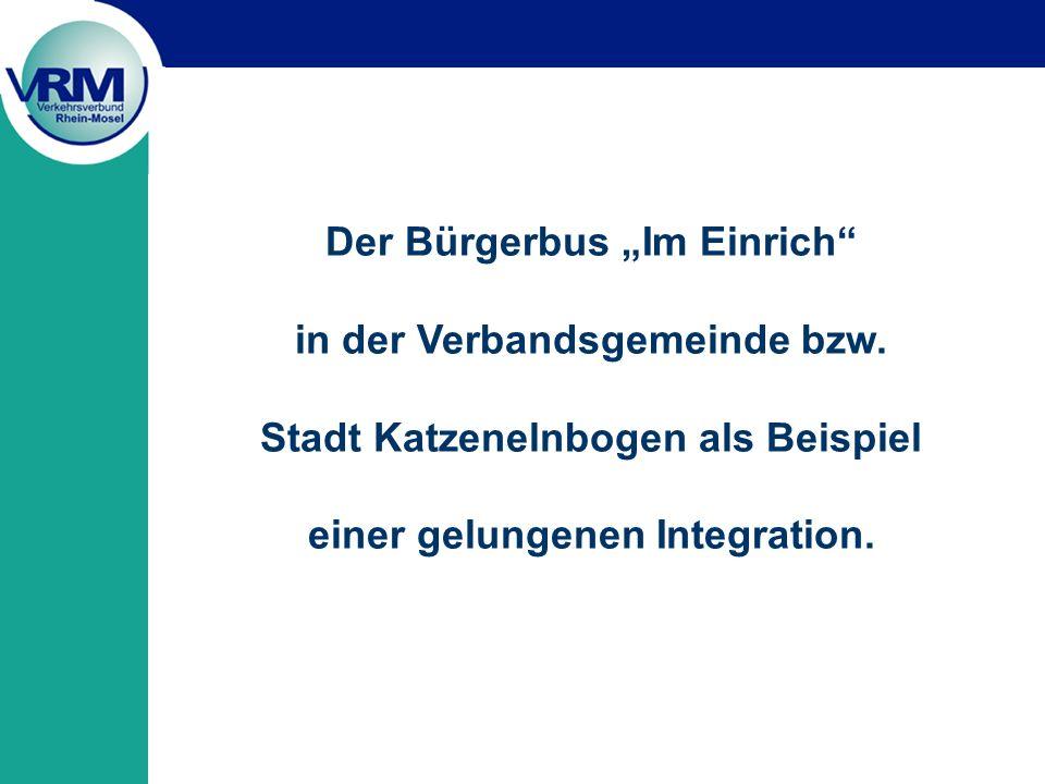 """Der Bürgerbus """"Im Einrich in der Verbandsgemeinde bzw."""